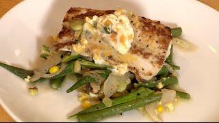 Seared Mahi-mahi & Vegetable Succotash Recipe