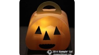 How To Make Illuminated Jack-o-lantern Keepsake Boxes Featuring Stampin Up