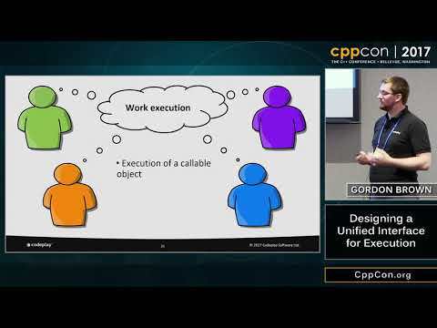 "CppCon 2017: Gordon Brown ""Designing a Unified Interface for Execution"""