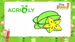 Agrioly | Bé Tập Vẽ Và Tô Màu Trái Khế
