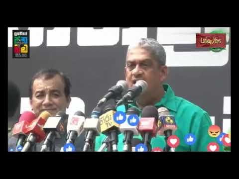 Sarath Fonseka Speech at Kollupitiya Protest -30 Oct 2018