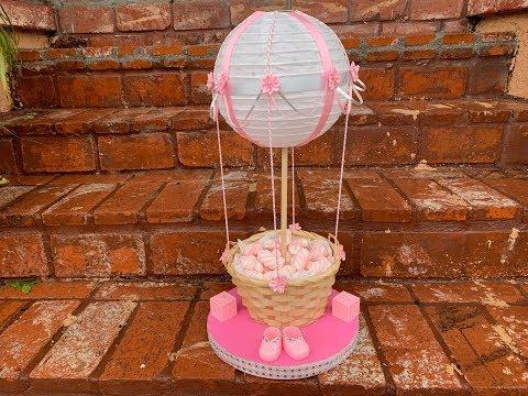 Pink Air Balloon Centerpiece