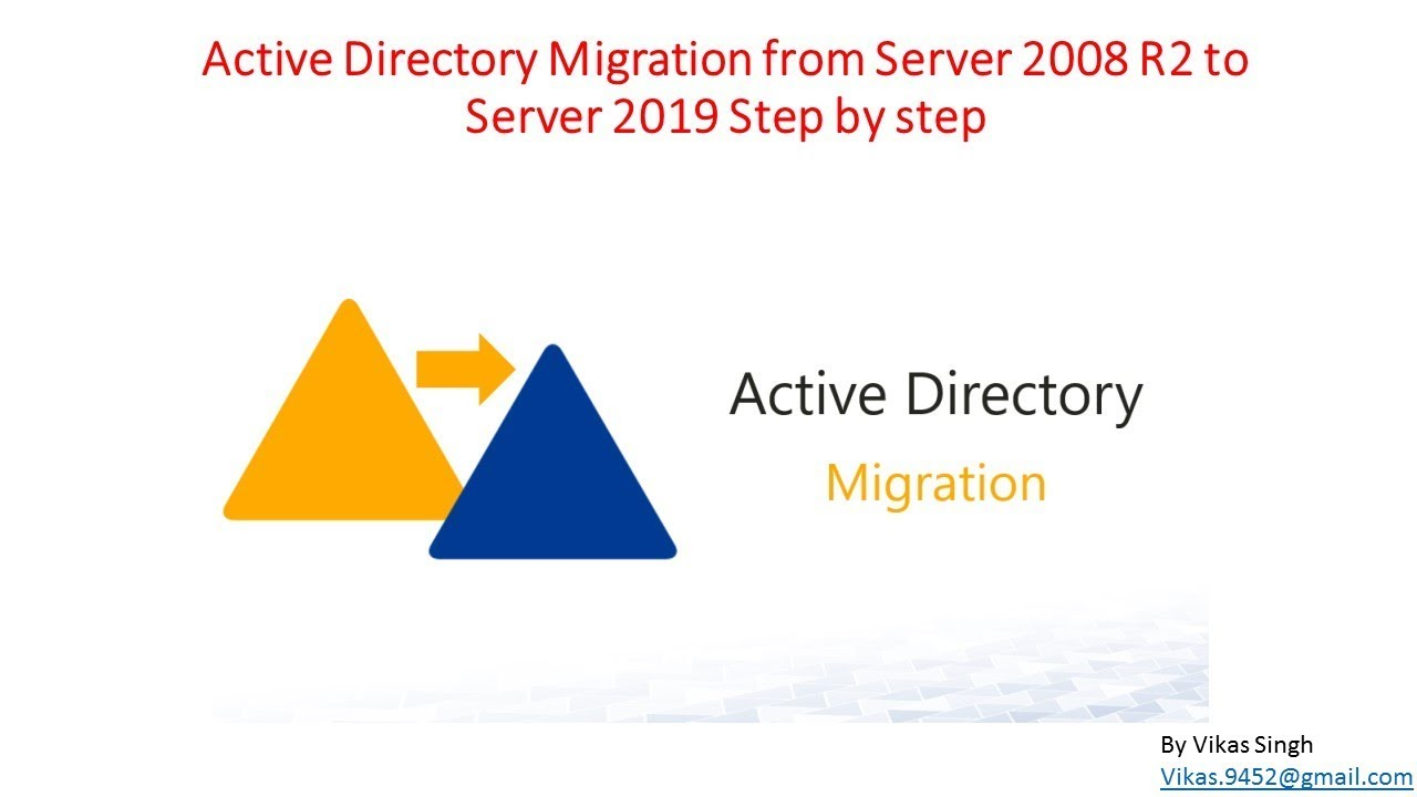 Active Directory Migration from Server 2008 R2 to Server 2019 Step by step