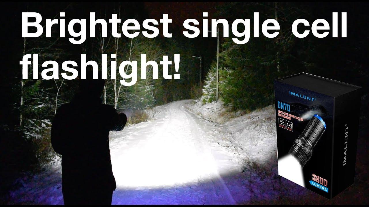 Worlds Brightest Single Cell Flashlight Imalent Dn70 3800lumen New Led Version