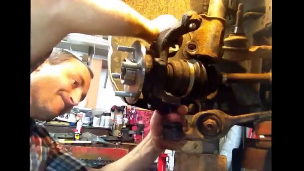 How to change or replace front wheel bearing on 2002 saturn front