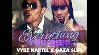 Vybz Kartel ft. Gaza Slim - Everything You Need [Nov 2012] [Head Concussion Records]
