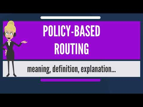 Policy Based Routing Huawei