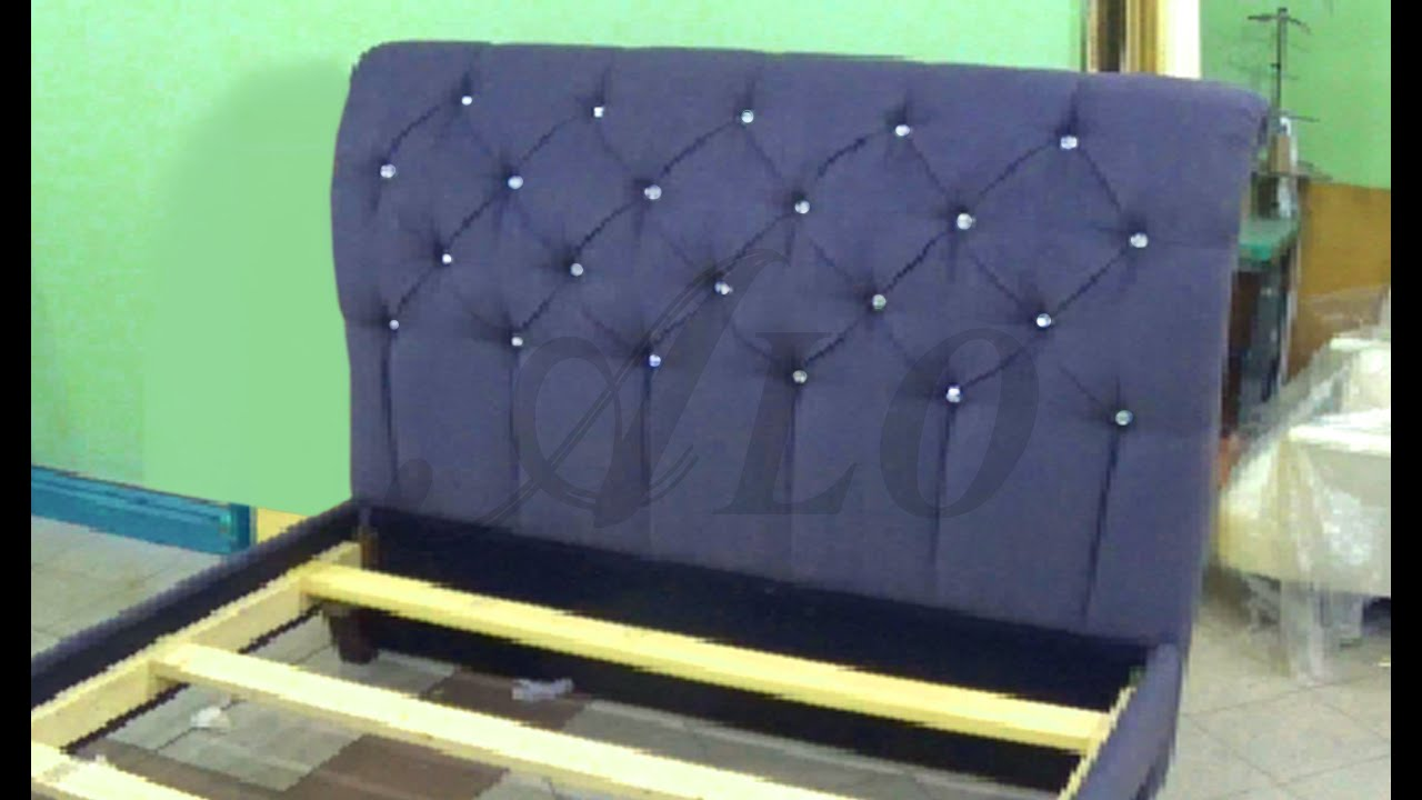 HOW TO REUPHOLSTER A TUFTED HEADBOARD AND INSTALL THE BED FRAME ...