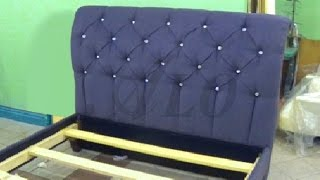 HOW TO REUPHOLSTER A TUFTED HEADBOARD AND INSTALL THE BED FRAME TOGETHER - ALO Upholstery