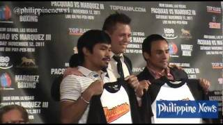 WWE Superstar The Miz vists Pacquiao and Marquez
