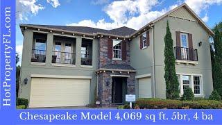 New Model Home Tour  4069 sq ft  Winter Garden FL  Bradford Creek Gated Community