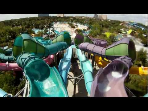 Omaka Rocka POV Full 1080 HD Aquatica Water Slide, Orlando Florida 2012 SeaWorld's Waterpark