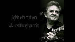 Repeat youtube video Johnny cash - Hung my head (lyrics)