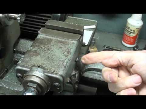 SHOP TIPS #283 Cutting a Woodruff Keyseat on Atlas Lathe - economy method tubalcain