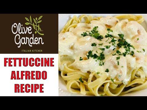 Easy to Make Olive Garden Fettuccine Alfredo with Shrimp