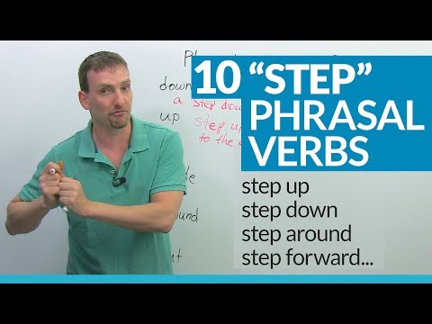 "10 ""STEP"" Phrasal Verbs in English: step up, step down, step in..."