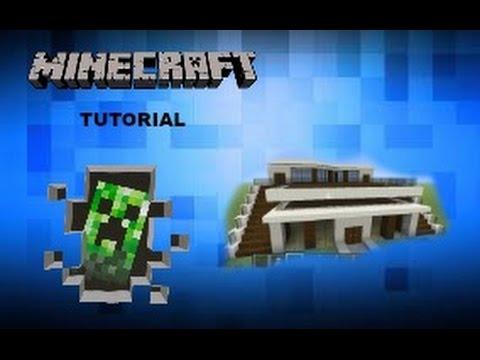 Minecraft modern house tutorial xbox one xbox 360 ps3 for Modern house tutorial xbox 360