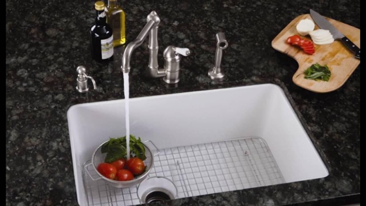 porcelain kitchen sinks undermount