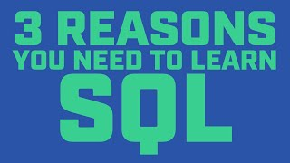 Why You Need to Learn SQL If You Want a Job in Data Science