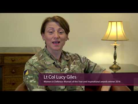 Lt Col Lucy Giles Woman of the Year and Inspirational Awards Winner 2016