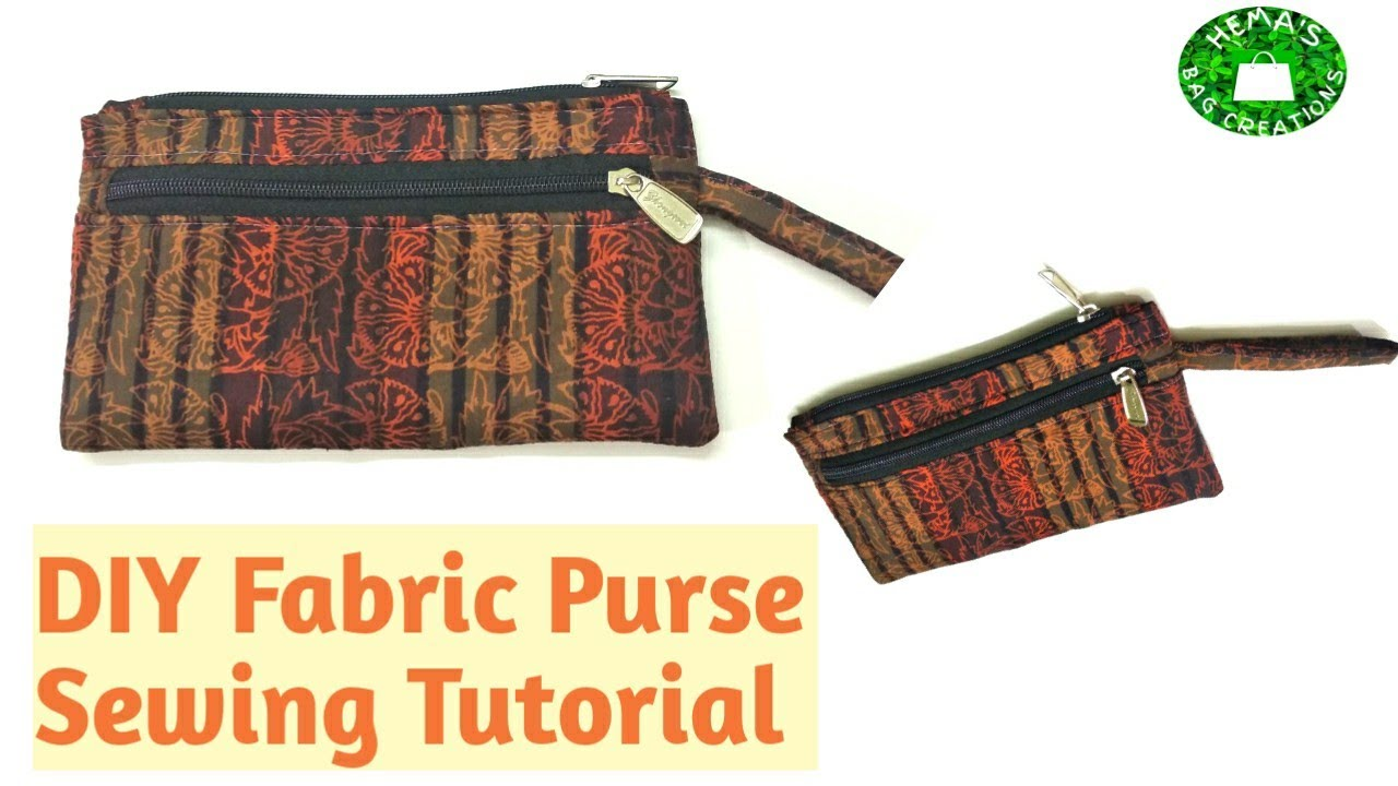 #DIY Simple #Fabric Purse #Making At Home/How To Stitch Ladies #Handpurse/How To Make Purse At #Home