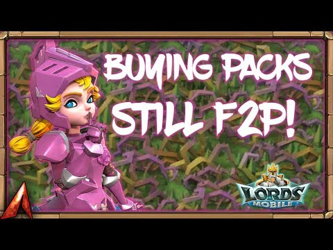Buying Packs While Staying F2P!? Here's How! Unlocking Rose Knight Lords Mobile