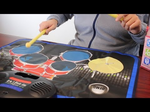 2-in-1 Electronic Jam Playmat with Piano and Drumset