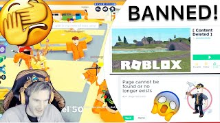 WHY PEWDIEPIE GOT BANNED THEN UNBANNED ON ROBLOX