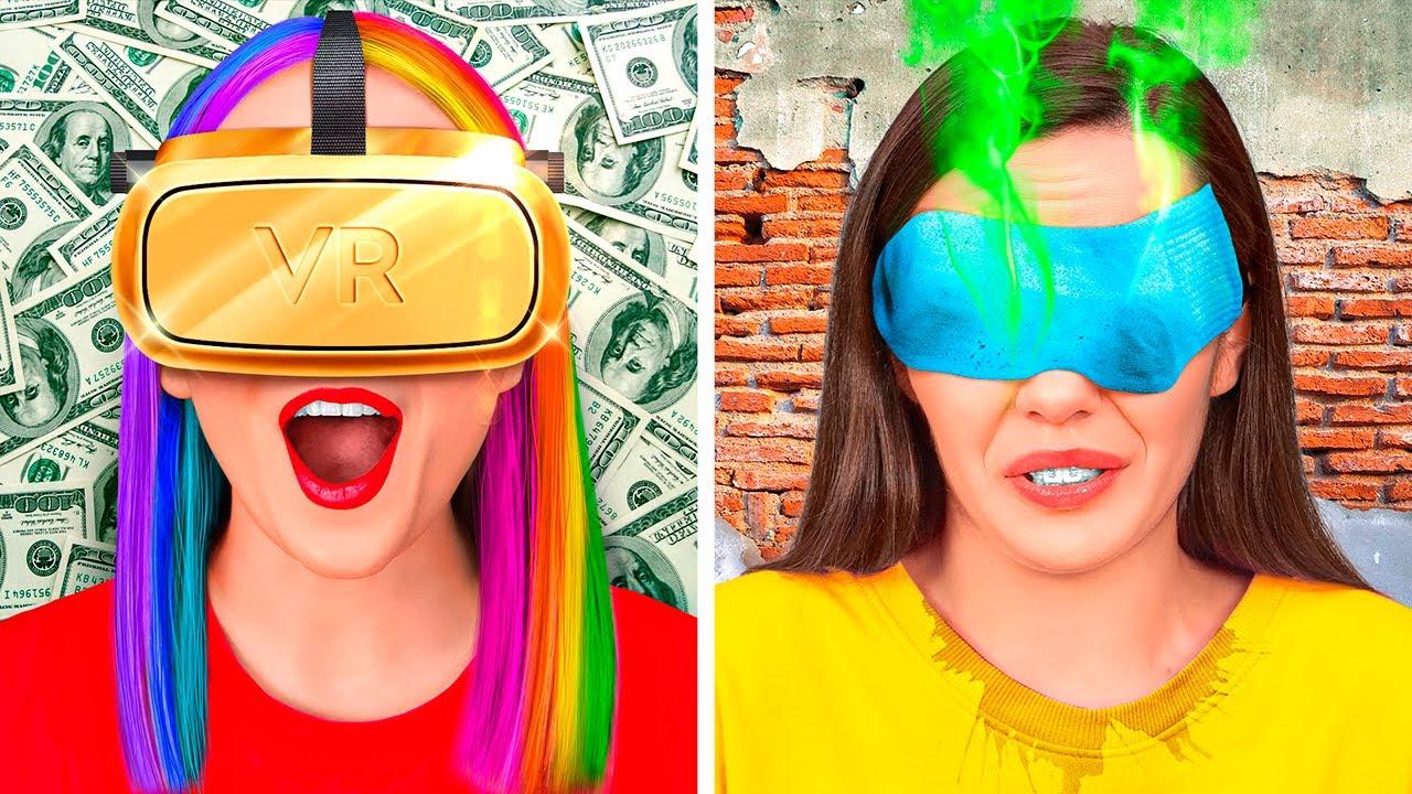 Download RICH GAMER VS BROKE GAMER || Popular VS Poor Nerd! Fun Gaming Situations! Challenge by 123GO! TRENDS