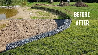 BEFORE & AFTER GABION PROJECT IN LITHUANIA