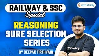 Railway \u0026 SSC Special   Reasoning Sure Selection Series by Deepak Tirthyani