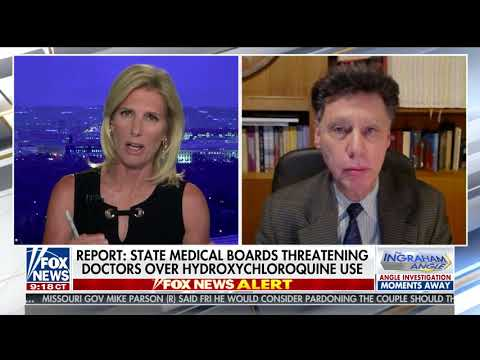 Doctors Threatened Over Hydroxychloroquine Use - The Ingraham Angle - Fox News - July 20, 2020