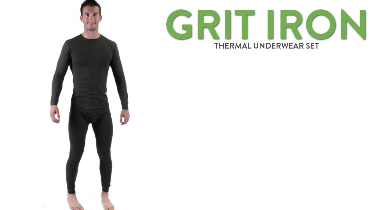 Grit Iron Thermal Underwear Set - 2-Piece (For Men) - YouTube 25eb2123f6f0