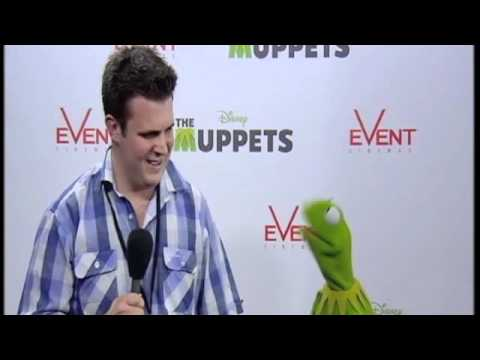 Kermit the Frog at the Australian Premiere of The Muppets with Lawrence Champness
