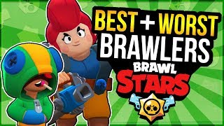 BEST & WORST Brawlers in Brawl Stars! Complete BRAWLER RANKING!