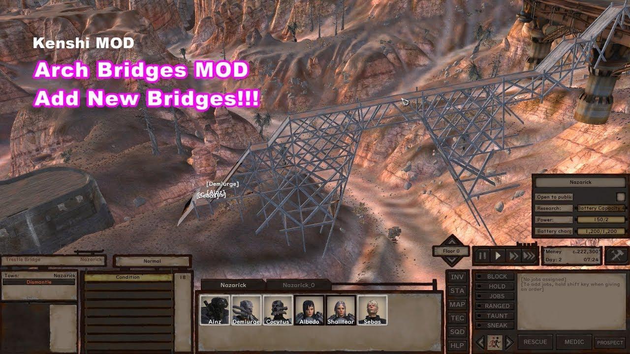 Kenshi MOD Arch Bridges (Add New Bridges)