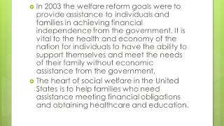 Welfare to Work Programs