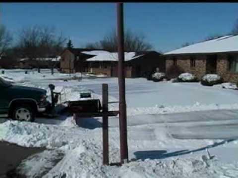Back Drag Snow Plow Blade Demonstration Youtube
