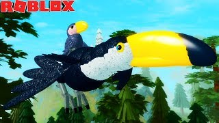 TUCANO'S LIFE pup! MOTHER MAGICA and BABY BEAK CROOKED! -ROBLOX Feather Family | * For Children * 🦅