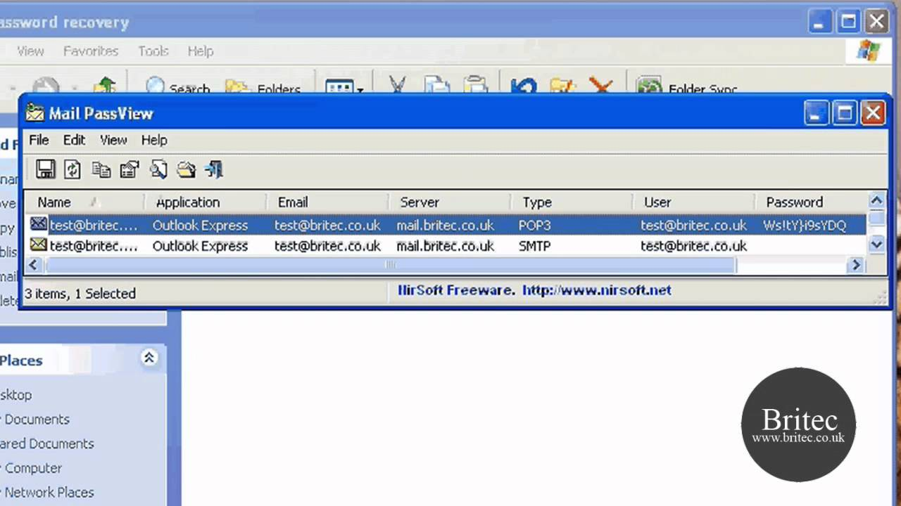 nirsoft mail passview