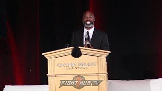 CHRIS BYRD GIVES EMOTIONAL & HILARIOUS SPEECH AT HIS 2018 NEVADA BOXING HALL OF FAME INDUCTION