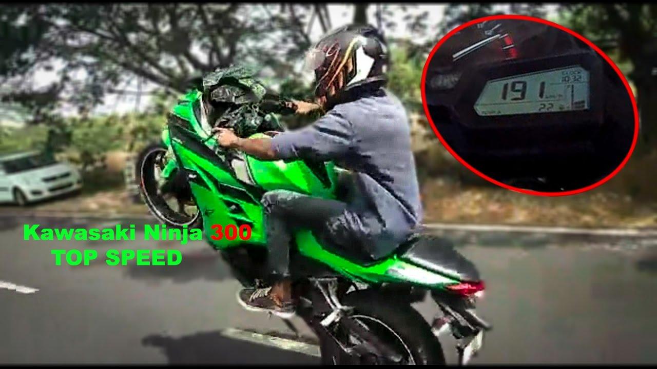 Kawasaki Ninja 300 Stunt Top Speed 191 Kmh 118 Mph Youtube