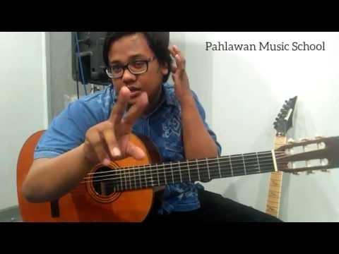 Tutorial belajar gitar - 2 jenis petikan tangan kanan