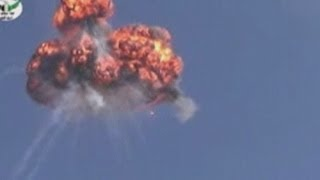 Syrian helicopter blown up in mid-air by rebels