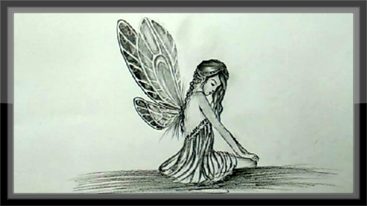 Cool drawings how to draw a fairy in pencil step by step