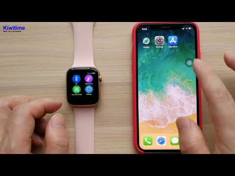 How IWO 8 Smart Watch Connect With IPhone - 44mm Apple Watch Series 4 Clone Review