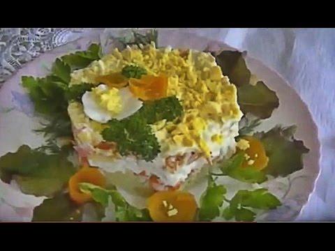 Салат Рафаэлло с крабовыми палочками - пошаговый рецепт
