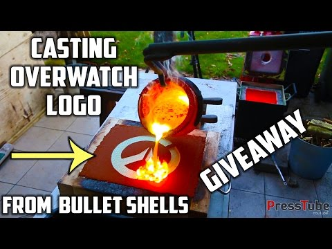 Casting Brass Overwatch Logo that looks like Gold.