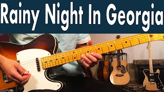 How to play rainy night in georgia | brooke benton guitar lesson + tutorial