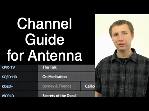 TV Channel Guide Options For OTA Antenna TV